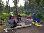 Thru-Hikers at Dumbell Lake Campsite (Custom)