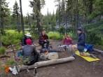 Thru-Hikers at Dumbell Lake Campsite (Custom)