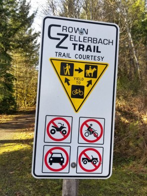 CZ Trail Sign