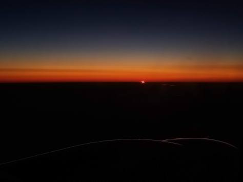 Sunset While Flying Back Home